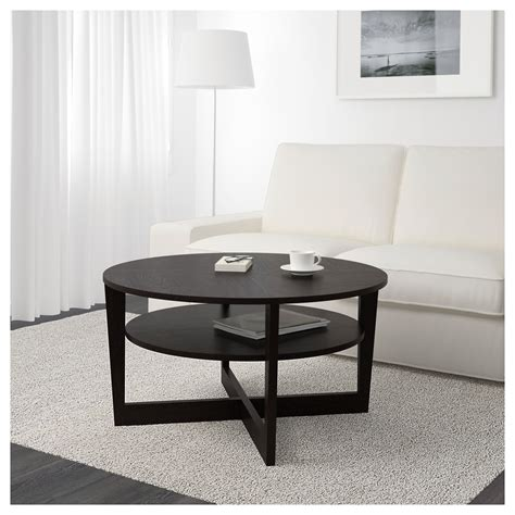Vejmon Side Table Vejmon Coffee Table Black Brown 90 Cm Ikea