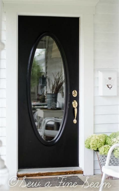 Black Front Door With Glass Black Front Door For Simple And Attracting Applications Homestylediary