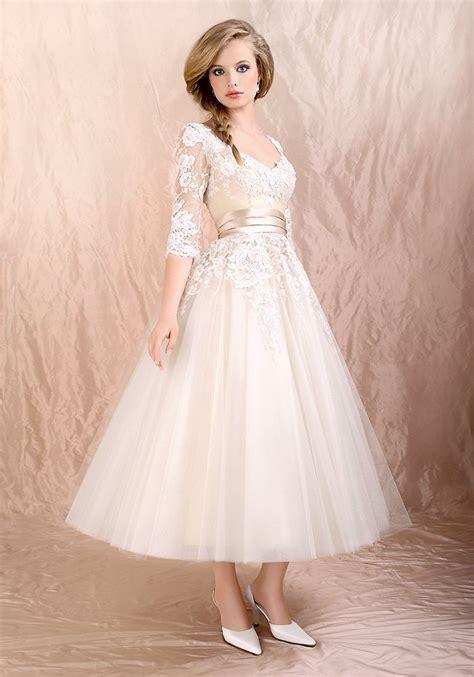 Tea Length Wedding Dresses by Tea Length Wedding Dresses With Sleeves A Trusted