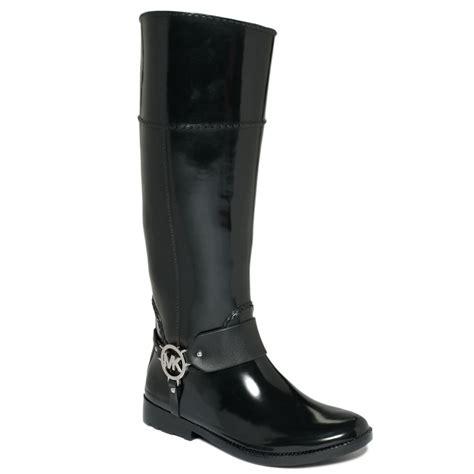 mk boots michael kors michael fulton harness boots in black