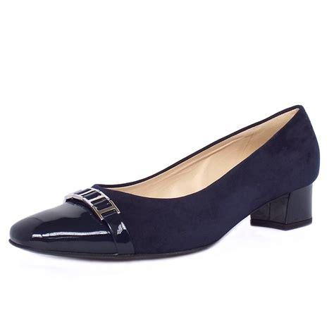kaiser arla s low heel shoes in navy suede