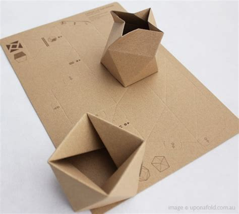Paper Box Fold - folding paper diy ideas design