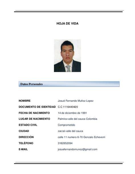hoja de vida de 2016 del ministerio de trabajo en colombia hoja de vida ejemplo seotoolnet com