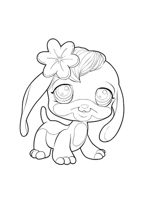 lps coloring pages dog pet shop hondje pet shop kleurplaten kleurplaat com