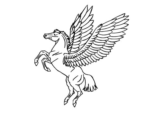 coloring pages of flying horse flying horse coloring pages