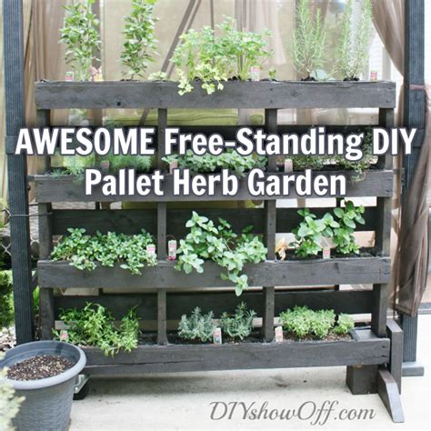 diy herb garden awesome free standing diy pallet herb garden off grid world