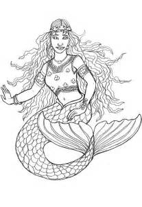 mermaid coloring pages for adults free printable mermaid coloring pages for