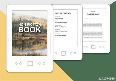 book layout adobe non fiction book layout for epub buy this stock template