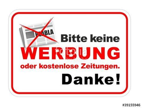Aufkleber Keine Werbung Und Gratiszeitungen by Quot Warnschilder Verbotsschilder Und Hinweissschilder