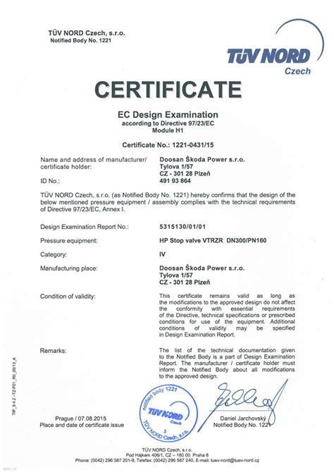 design examination certificate definition quality health safety environment certification