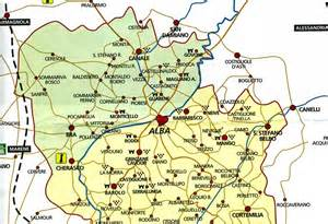 Alba Italy Map by Adrian Fletcher In Alba And The Vineyards Of The Langhe