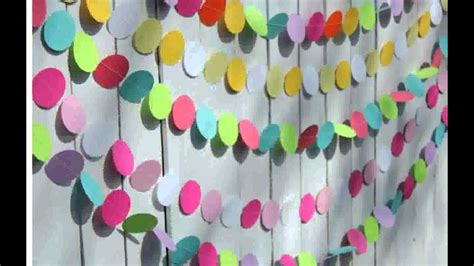 birthday decorations  paper youtube