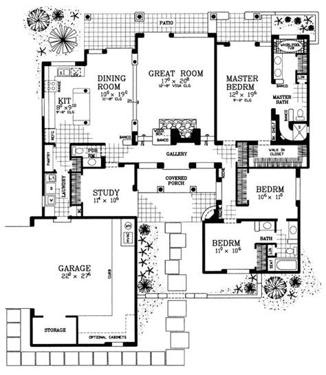 patio homes floor plans great covered patio home plan 81394w architectural