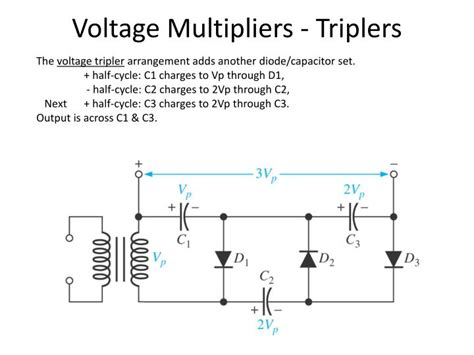 electrolytic capacitor voltage multiplier ppt electronics 1 lecture 7 diode types and application powerpoint presentation id 5741920