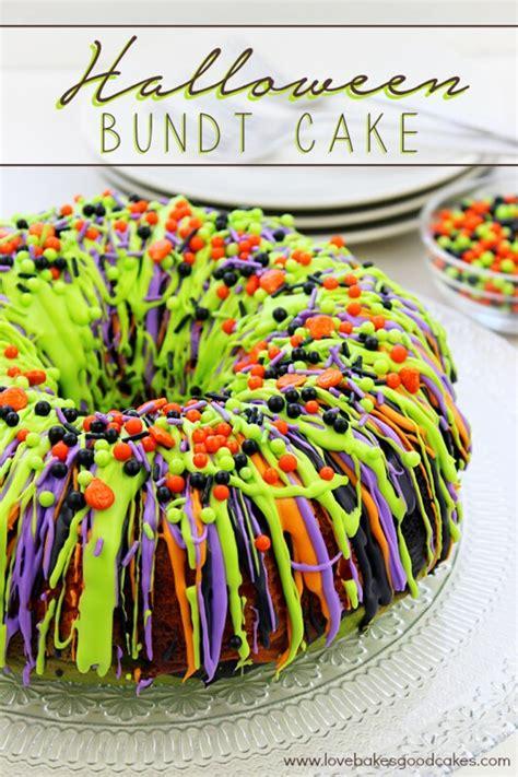halloween bundt cake love bakes good cakes