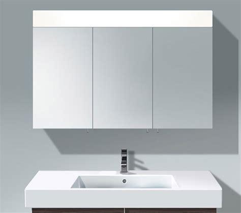 duravit illuminated bathroom mirrors cabinets designcurial duravit vero 1200mm 3 door mirror cabinet with led