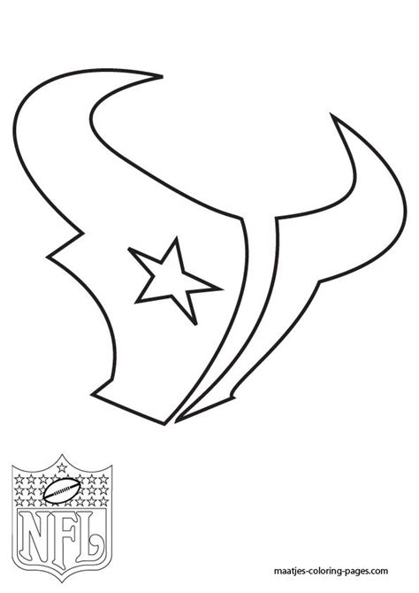 coloring pages nfl team logos free template stencil houston texans nfl templates