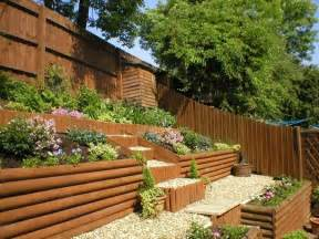sloping garden ideas for beeanddave