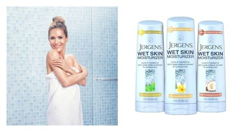 leslie mann lotion jergens launches wet skin moisturizer with actress leslie