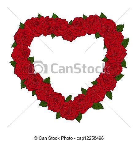 imagenes flores en forma de corazon vector el marco forma silueta coraz 243 n bordered