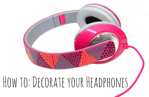 Decorated Earbuds by Decorate Your Headphones A Craft In Your Daya