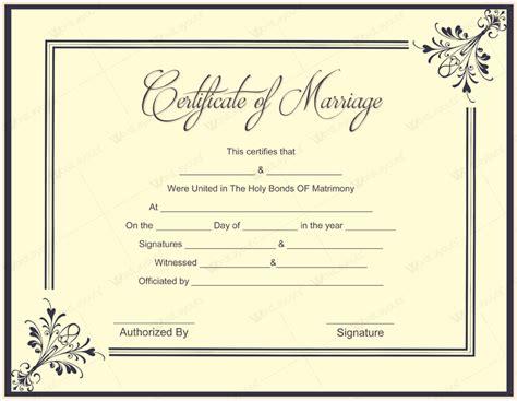 uk marriage certificate template printable birthday