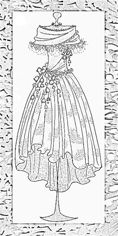 vintage coloring pages pdf vintage dress image 1 coloring 2 pinterest beautiful