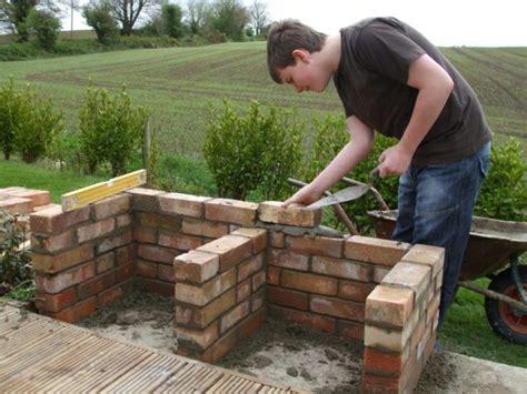 garten ideen selber bauen steingrill selber bauen anleitung in 5 einfachen schritten