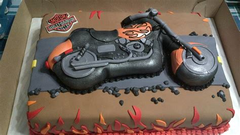 biker birthday cakes cake ideas  designs