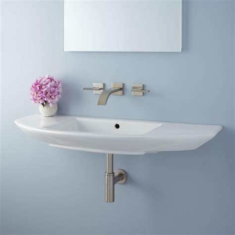 sinks for narrow bathrooms wall mounted narrow bathroom sinks useful reviews of