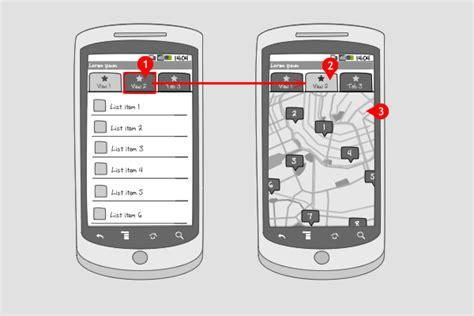 android pattern view change view tab bar android interaction design patterns