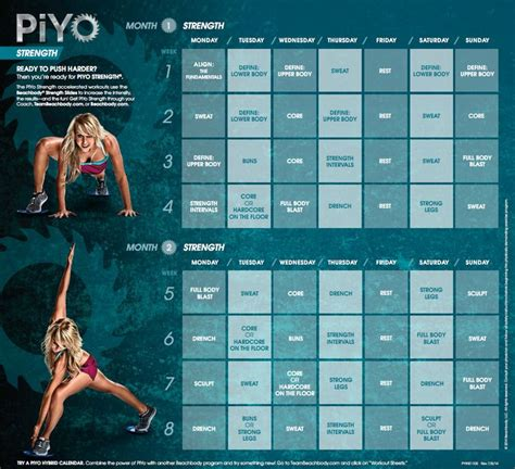 piyo strength workout calendar beachbody