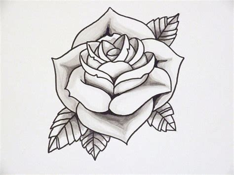 rose tattoo template outline 2 flickr photo