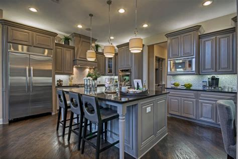 Houzz Painted Kitchen Cabinets toll brothers plano tx model contemporary kitchen