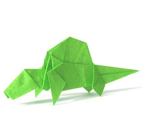 Origami Dimetrodon - origami dinosaur 簡単 恐竜 伝説 折り紙 origami dimetrodon 簡単 恐竜