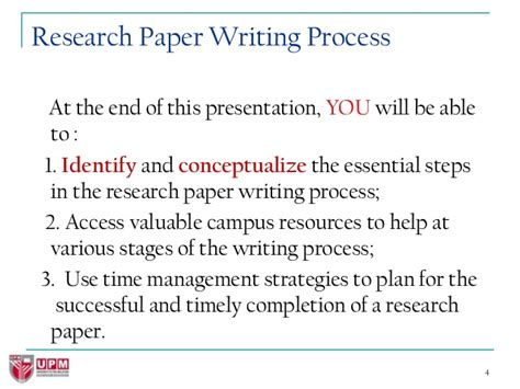 what are the steps in writing a research paper how to write great research papers