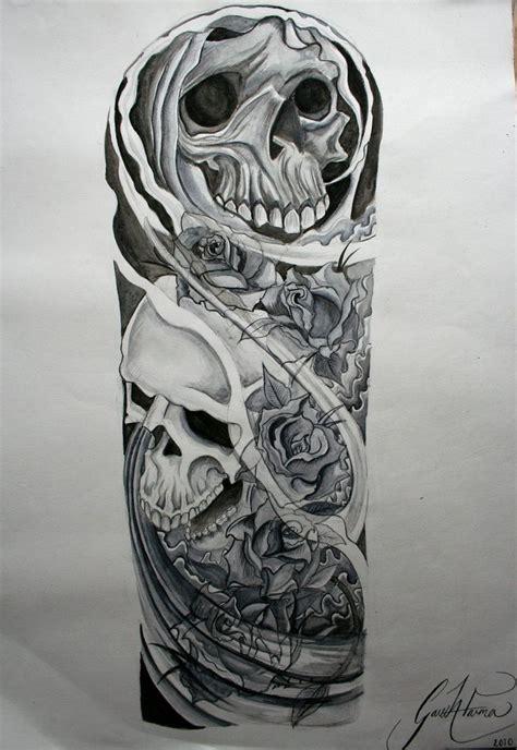 skull sleeve tattoos designs best 25 skull sleeve tattoos ideas on skull