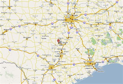 map of central texas where is killeen texas on the texas map