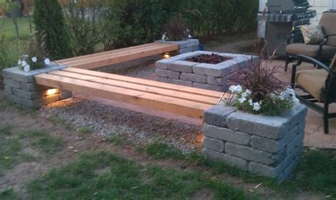 diy fire pit bench fire pit benches diy outdoor projects pinterest