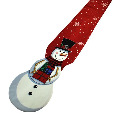 happy snowman red navy blue checked novelty christmas
