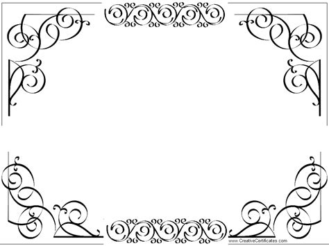 border template certificate borders