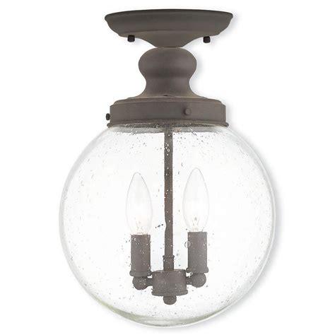 bronze flush mount light livex lighting providence 2 light bronze flushmount with