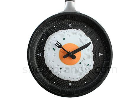 Egg Pan Clock egg in frying pan clock