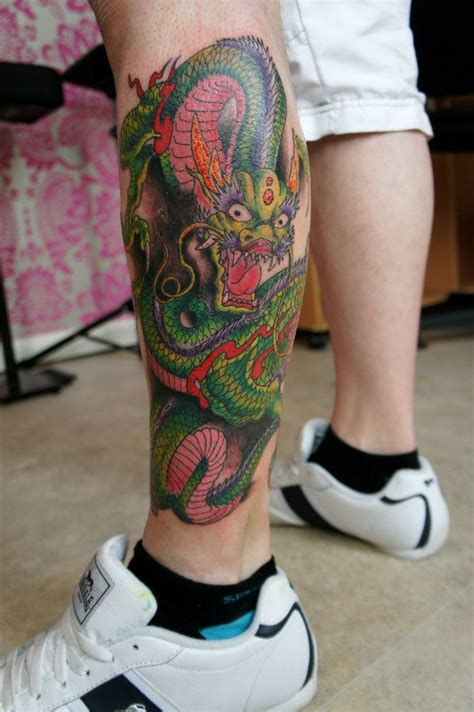 dragon leg tattoo leg by dirtymosher666 on deviantart