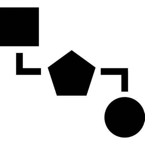 block scheme blocks scheme of three black geometric shapes icons free