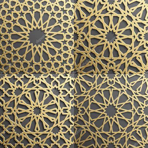 islamic pattern 3d model islamic pattern set of 4 ornaments seamless arabic