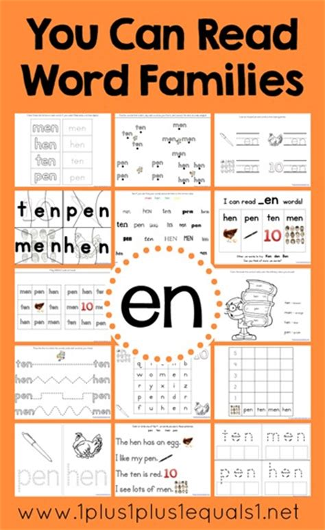 Family Activities 1 You Can Read Word Families En Word Family Printables 1