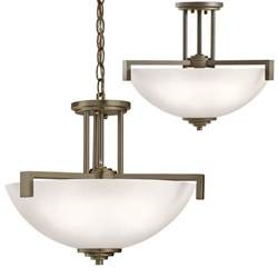 Drop In Light Fixtures Kichler 3797ozs Eileen Contemporary Olde Bronze Drop