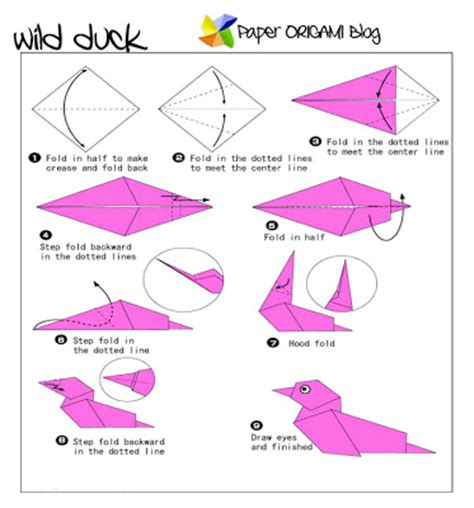 How To Make A Paper Duck - paper origami a duck paper origami guide