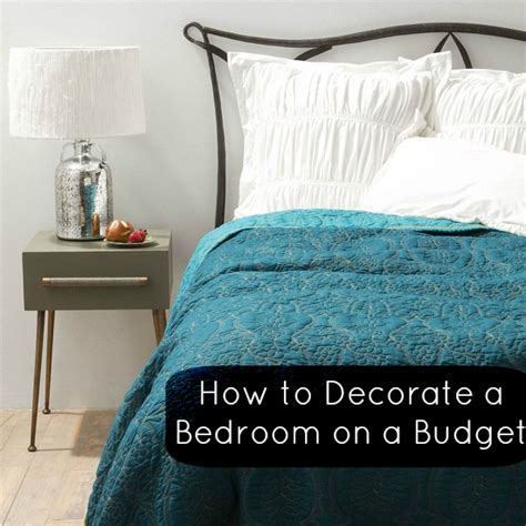 top tips how to decorate a bedroom on a budget love chic living